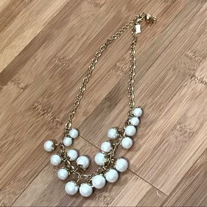 Gold pearl Kate Spade necklace